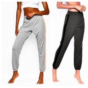 XL Victoria's Secret GRAY Velvet Trim Jogger pants